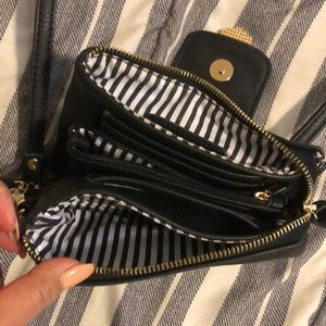 Black/gold Charming Charlie clutch , side purse